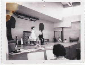 Stage debut as Mary Poppins – Coeburn Elementary School 1964